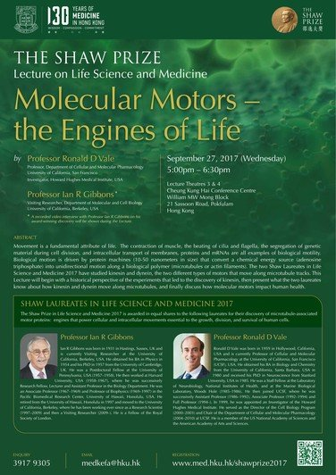 """Molecular Motors - the Engines of Life"" 海報"