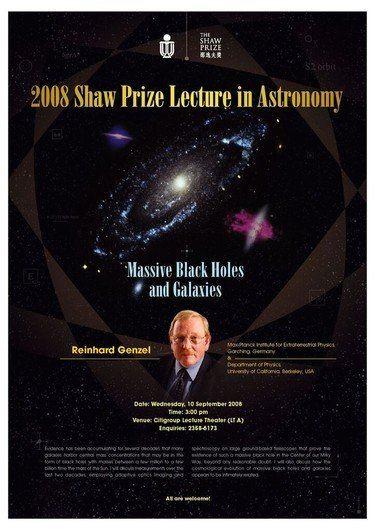 "Poster of  ""Massive Black Holes and Galaxies"""