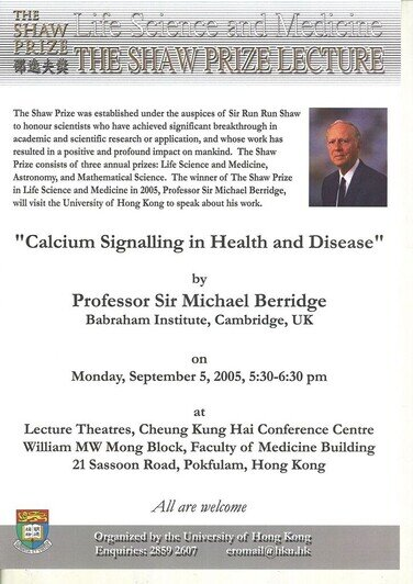 """Calcium Signalling in Health and Disease"" 海報"