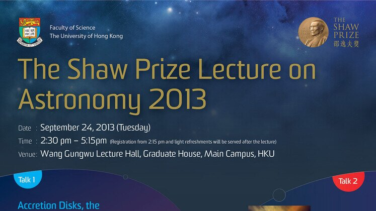 The Shaw Prize Lecture in Astronomy 2013