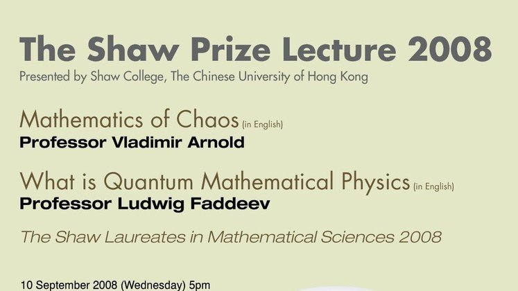 The Shaw Prize Lecture in Mathematical Sciences 2008