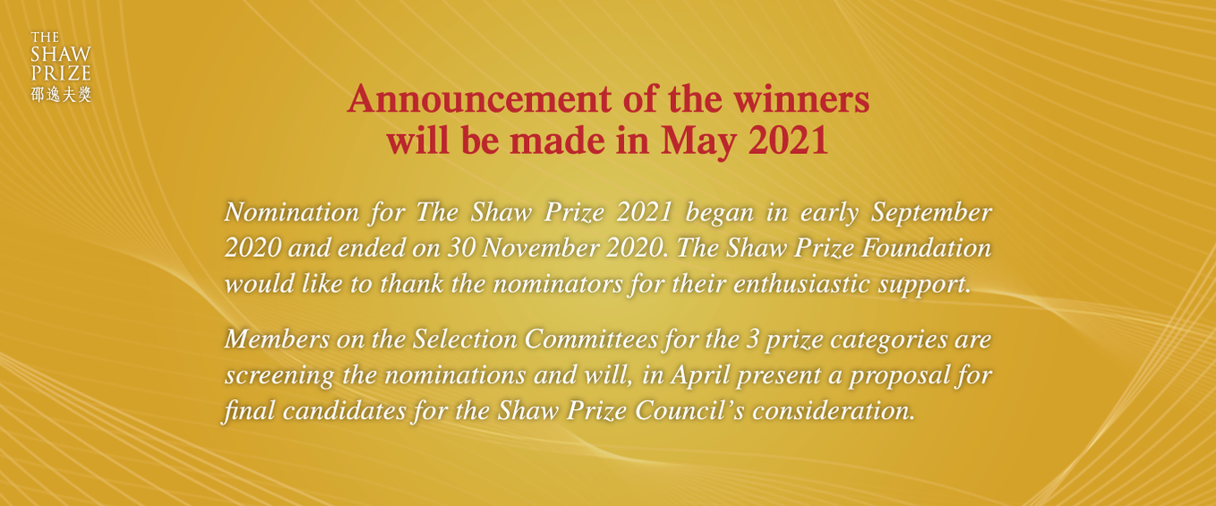 Announcement of the winners