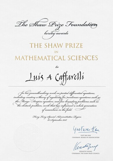 The Cert of Mathematical Sciences